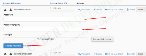 Change Webmail Password in Cpanel 3