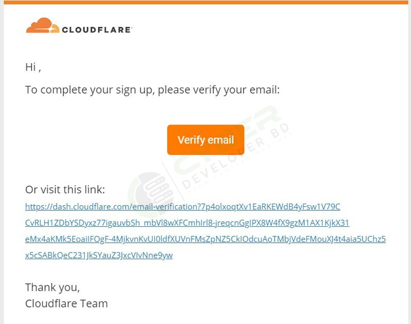 Add Cloudflare on a Website Step-10