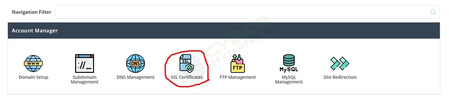 Activate SSL Certificate Screenshot 1